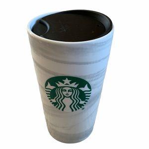 NEW! Starbucks Marble Ceramic Travel Mug 12oz